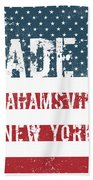 Made In Grahamsville, New York Beach Towel