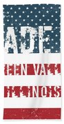 Made In Green Valley, Illinois Beach Towel