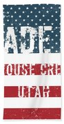 Made In Grouse Creek, Utah Beach Towel