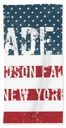 Made In Hudson Falls, New York Beach Towel