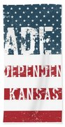Made In Independence, Kansas Beach Towel