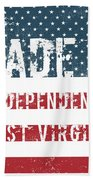 Made In Independence, West Virginia Beach Towel