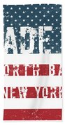 Made In North Bay, New York Beach Towel