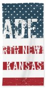 Made In North Newton, Kansas Beach Towel