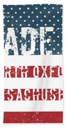 Made In North Oxford, Massachusetts Beach Towel