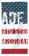 Made In North Street, Michigan Beach Towel