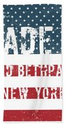 Made In Old Bethpage, New York Beach Towel