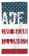 Made In Olive Branch, Illinois Beach Towel