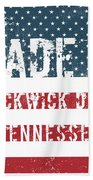Made In Pickwick Dam, Tennessee Beach Towel
