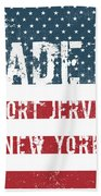 Made In Port Jervis, New York Beach Towel