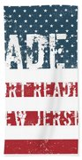 Made In Port Reading, New Jersey Beach Towel
