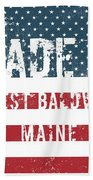 Made In West Baldwin, Maine Beach Towel