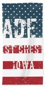 Made In West Chester, Iowa Beach Towel