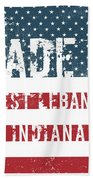 Made In West Lebanon, Indiana Beach Towel