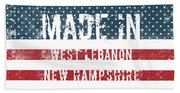 Made In West Lebanon, New Hampshire Beach Towel