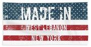 Made In West Lebanon, New York Beach Sheet