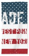 Made In West Point, New York Beach Towel