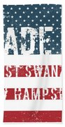 Made In West Swanzey, New Hampshire Beach Towel