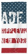 Made In Whippleville, New York Beach Towel