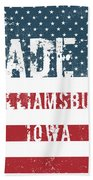 Made In Williamsburg, Iowa Beach Towel