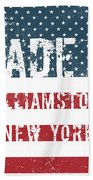 Made In Williamstown, New York Beach Towel