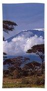Majestic Mount Kilimanjaro Beach Sheet