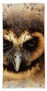 Malaysian Brown Wood Owl Beach Towel