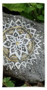 Mandala Stone  Beach Towel