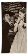 Margaret Hamilton And Judy Garland In The Wizard Of Oz 1939 Beach Towel