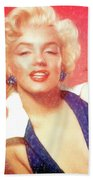 Marilyn Monroe - Pencil Style Beach Towel