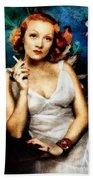 Marlene Dietrich, Vintage Actress Beach Towel