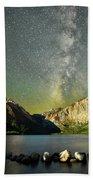 Mars And The Milky Way Beach Towel