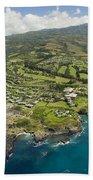Maui Aerial Of Kapalua Beach Towel
