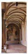 Medieval Hallway Of Italian Cloister Beach Towel