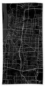 Memphis Tennessee Usa Dark Map Beach Towel