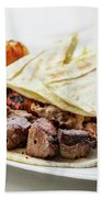 Middle Eastern Food Mixed Bbq Barbecue Grilled Meat Set Meal Beach Towel
