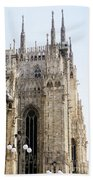 Milan Cathedra, Domm De Milan Is The Cathedral Church, Italy Beach Towel