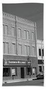 Miles City, Montana - Downtown 2 Bw Beach Towel