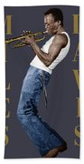 Miles Davis Beach Towel