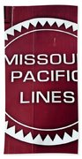 Missouri Pacific Lines Beach Towel