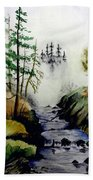 Misty Creek Beach Towel