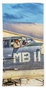 Marine Mitchell B-25 Pbj  Beach Towel