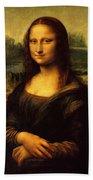 Mona Lisa Portrait Beach Towel