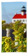Monarch At East Point Light Beach Towel