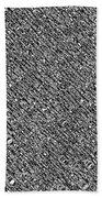 Monochromatic Abstract Beach Towel