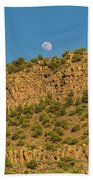 Moonrise Rio Grande Gorge Pilar New Mexico Beach Sheet
