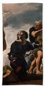 Moses And The Messengers From Canaan Beach Towel