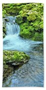 Mossy Moine Falls Beach Towel