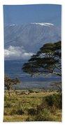 Mount Kilimanjaro Beach Towel