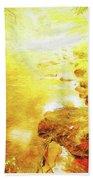 Mountain Stream In Summer Mist Beach Towel